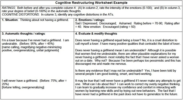 Printables Cognitive Distortion Worksheet Cinecoa Thousands of – Cognitive Distortion Worksheet